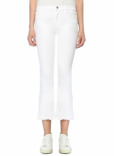 J Brand Boru Paça Jean Pantolon Beyaz